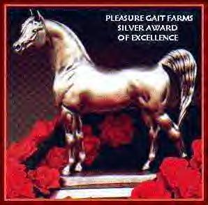 Thank you Pleasure Gait Farms for this Award